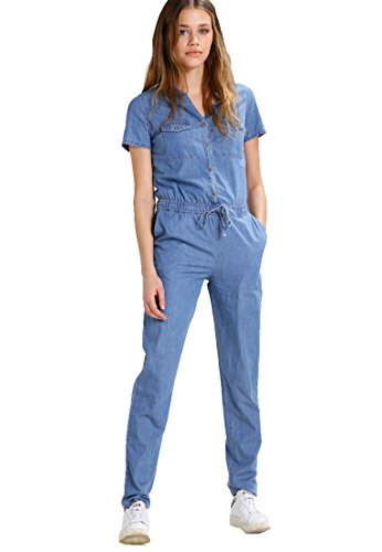 Even&Odd Jumpsuit Damen in Jeans-Blau, L