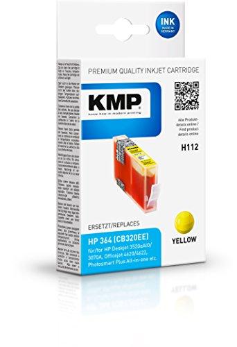Preisvergleich Produktbild KMP Tintenkartusche für HP Photosmart C5380/C6380, H112, yellow