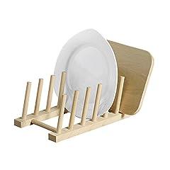Kesper 6 Teller Brettchen Tellerständer, Holz