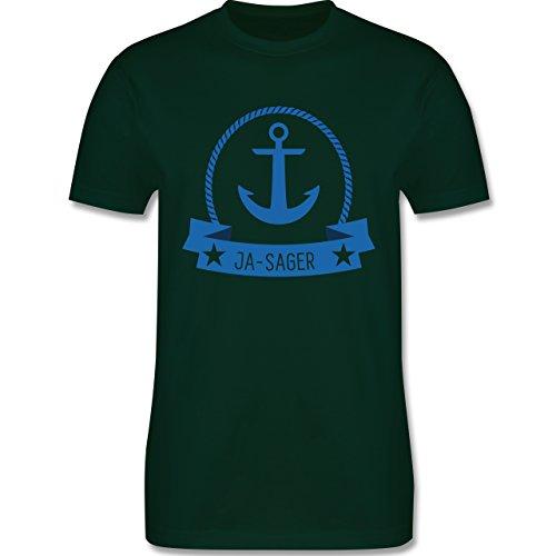 JGA Junggesellenabschied - Ja-Sager Anker - Herren Premium T-Shirt Dunkelgrün