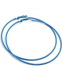 2livefor, hoop earrings, large, simple, round earrings