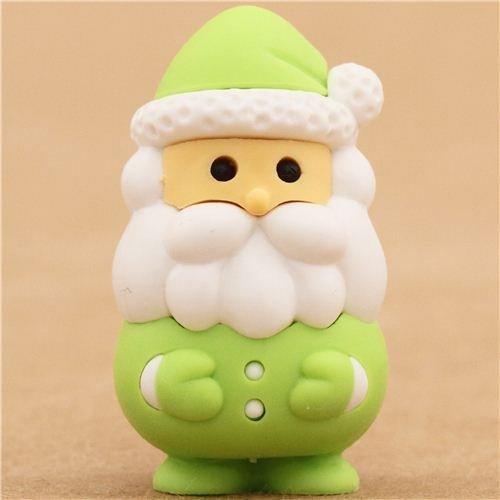 green Santa Claus Christmas eraser by Iwako from Japan by Iwako