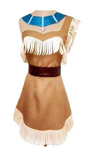 (ValuePack Halloween India Prinzessin Kostüm Film Cosplay Kleidung Damen Quaste Figurbetontes Kleid Outfit für Fancy Dress)