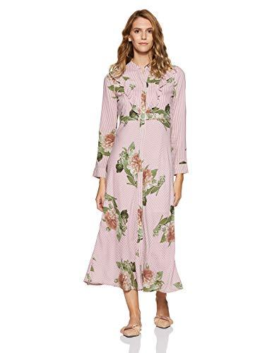 d9c1271416f Stalk Buy Love Women s Viscose Floral Berta Striped Knotted Maxi Dress