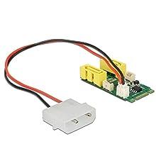 DeLOCK 63464 Carte et Adaptateur d'interfaces Interne SATA - Cartes et adaptateurs d'interfaces (PCIe, SATA, 1 x 59 pin M.2 Key B+M Male, 2 x SATA III, Asmedia ASM1061, 6 Gbit/s, 22 mm)