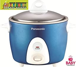 TOY-STATION Panasonic Metal Automatic Baby Cooker/Steamer 22.5x22.2x21.8cm 0.3Kgs (Blue)