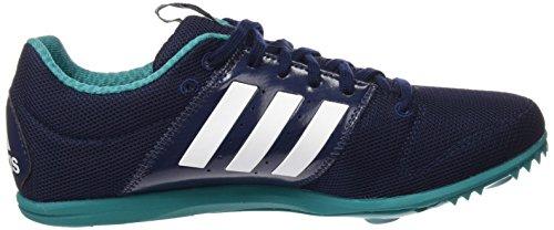 adidas Allroundstar J, Fußballschuhe mixte bébé Azul marino/Blanco/Verde(Maruni / Ftwbla / Eqtver)