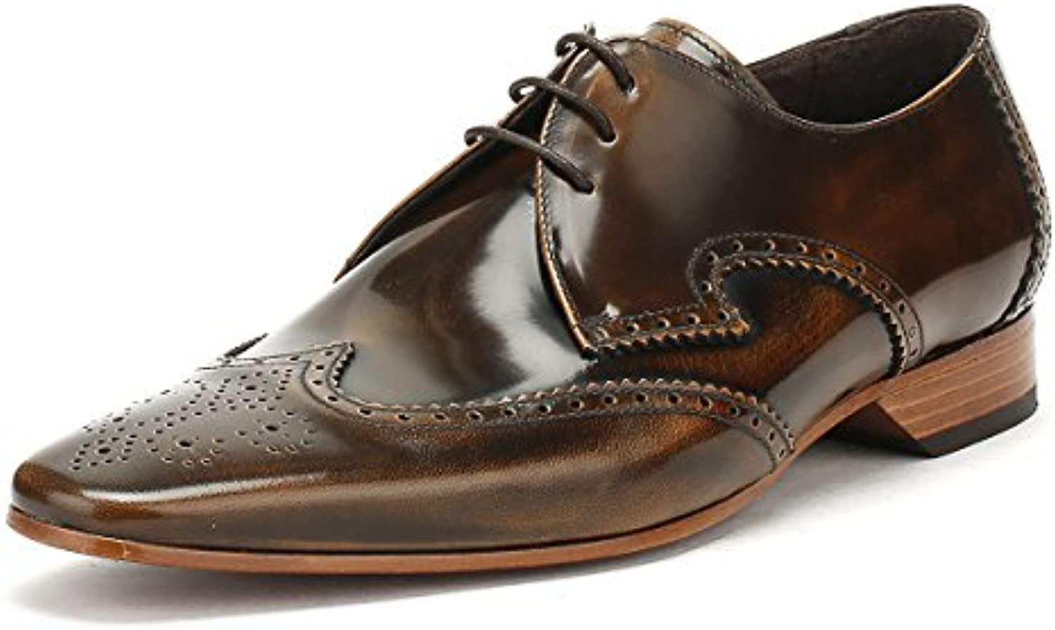 Jeffery West Hombres College Camel Marrón Escobar Brogue Gibson Zapatos -