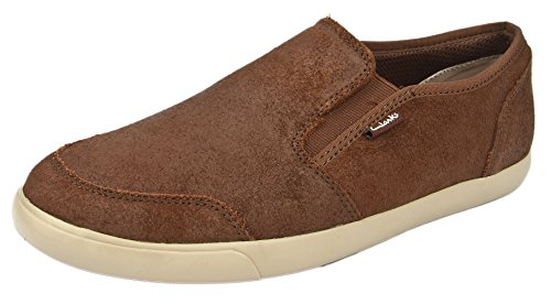 Clarks Men's Torbay Slipon Walnut Loafers And Mocassins