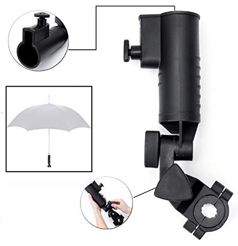 LL-Golf ® Universal Schirmhalter V2 für Rollstuhl/Rollator/Kinderwagen/Halter/Sonnenschirmhalter/Regenschirmhalter/Umbrella Holder