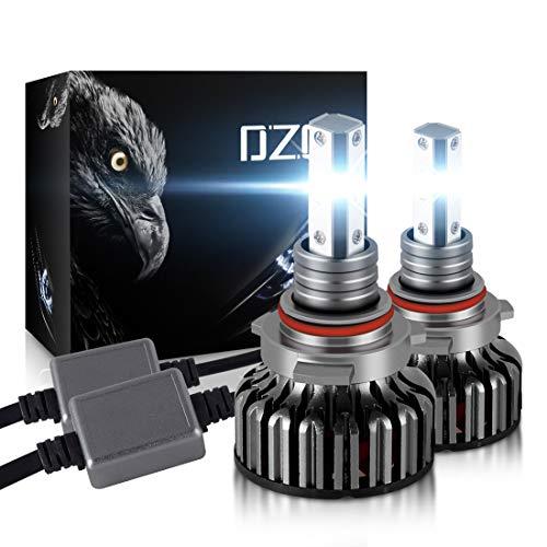 DZG Hir2 / 9012 Kit di conversione LED fari 8000Lm 6000K Nessun errore Lampadine per fari auto Xenon bianco 12V extra brillante 2 pezz