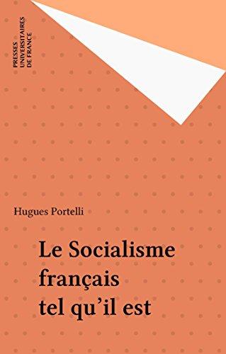 Le Socialisme français tel qu'il est epub, pdf