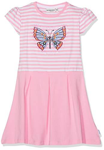 SALT AND PEPPER Mädchen Kleid Dress Friend Stripe, Pink (Rose Melange 815), 116 (Herstellergröße: 116/122)