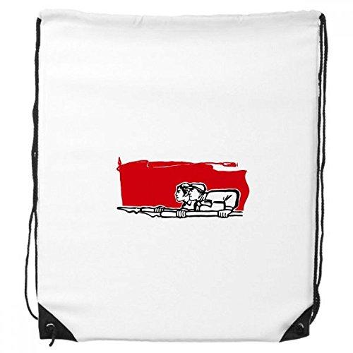DIYthinker Red Flag Mann Eine Frau Pen Illustration Rucksack-Shopping Sport Taschen Geschenk