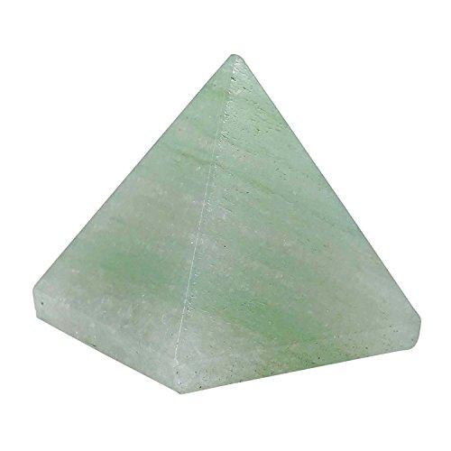 Gemstone Natural Reviheal TM Aventurine verde piramide 25-30 mm Generator cristalli Reiki Healing