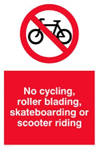 Viking Schilder pv5355-a1p-1mKeine Radfahren, Roller Blading, Skaten oder Scooter Reiten Zeichen, 1mm halbstarr Kunststoff, 800mm H x 600mm W