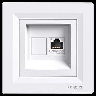 asfora–ISDN-Dose CAT5e 1x RJ45, Steckdose, Komplett, Schneider Electric, weiß, NEU