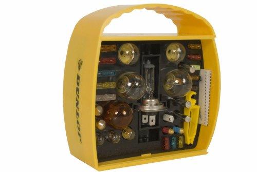 Dunlop 360067 Auto Beleuchtung Set H7, 32-teilig, Lampen & Sicherungen, 12V (Abblend-/ Nebel-/ Fernlicht)