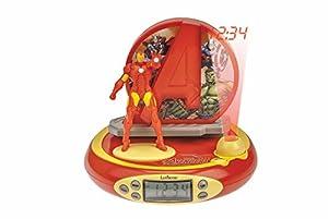 Avengers-RP510AV Marvel, Vengadores, Iron Man - Radio Reloj Despertador con proyección Luminosa de la Hora (RP510AV) (Lexibook
