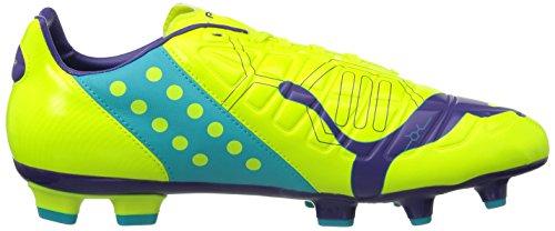 Puma evoPOWER 3 FG, Scarpe da calcio Uomo Arancione (Orange (fluro yellow-prism violet-scuba blue 04))