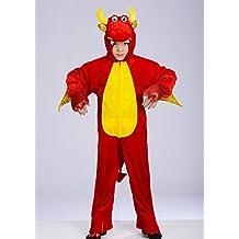 Tamaño de niños disfraz de dragón rojo Large (7-8 years)