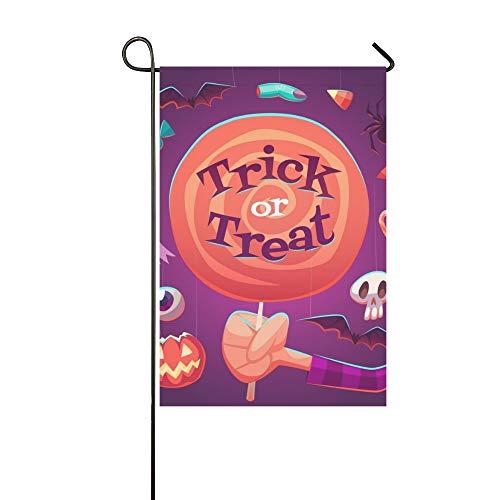 JOCHUAN Wohnkultur Große Lollipop Halloween Poster Karte Garten Flaghouse Yard Flaggarden Yard Decorationsseasonal Willkommen Outdoor Flagge 12X18 Zoll