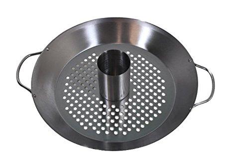 Gourmet BBQ Système Support de Volaille Poulet Griller & légumes Wok Plat