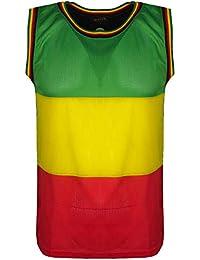 Para hombre Rasta y chaleco de Jamaica Material de malla