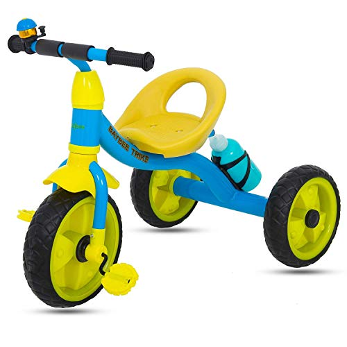 GoodLuck Baybee - Children Plug and Play Kids Tricycle Trike with Water Bottle Kid's for 2-5 Years Baby Tricycle Ride on Outdoor | Suitable Babies for Boys & Girls - (Blue)
