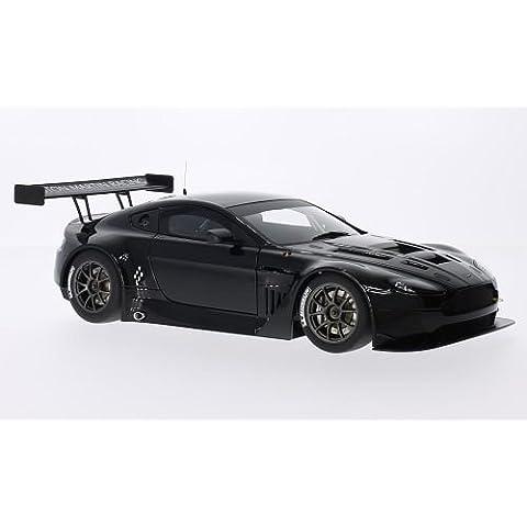 Aston Martin Vantage V12 GT3, nero, 2013, modello di automobile, modello prefabbricato, AutoArt 1:18 Modello esclusivamente Da