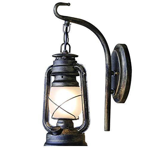 Rustikale Öl (Yaione Petroleum Wandlaterne Licht, Vintage Metall & Glas Wandleuchte Lichter für Schlafzimmer Wohnzimmer, Esszimmer, Cafe Bar, Flur Dekor rustikale Laterne Wand von Lifestyle-Produkte Kohle-Öl-Lampe)