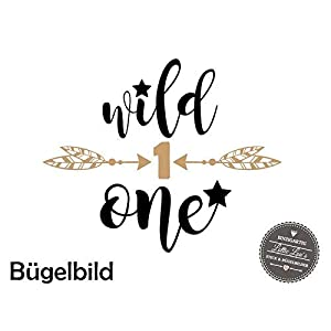 """Bügelbild Aufbügler Geburtstag""""Wild One"""" in Flex, Glitzer, Flock, Effekt in Wunschgröße"""
