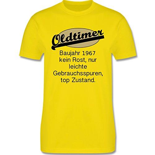 Geburtstag - 50. Geburtstag Oldtimer Fun Baujahr 1967 - Herren Premium T-Shirt  Lemon