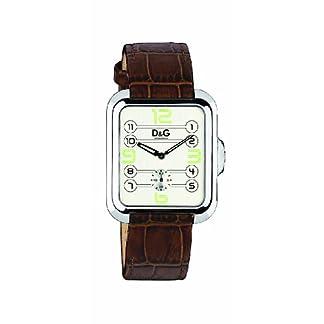 D&G Dolce&Gabbana d&g apache – Reloj analógico de caballero de cuarzo con correa de piel marrón – sumergible a 30 metros