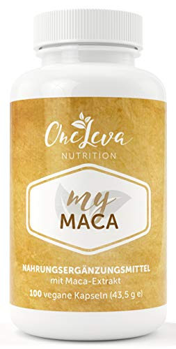 My Maca | 100 Kapseln | 300 mg Maca Extrakt hochdosiert 20:1 - entspricht 6000 mg Maca Pulver pro Kapsel