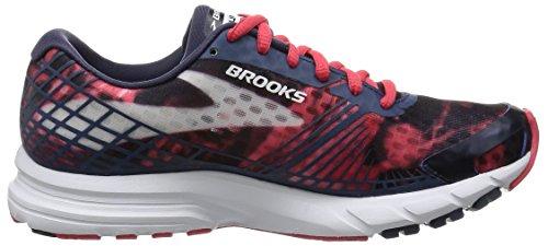 Brooks Launch 3, Chaussures de Running Compétition Femme Multicolore (Schwarz/Rot/Weiß)