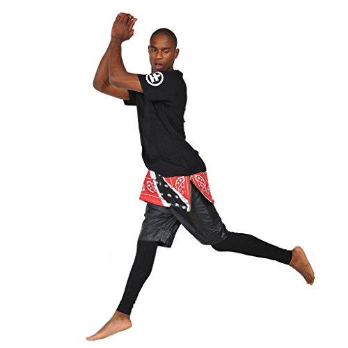 Pizoff Unisex Hip Hop Langes T-Shirt mit Paisley Druckmuster und seitlichen Reißverschluss Y0422
