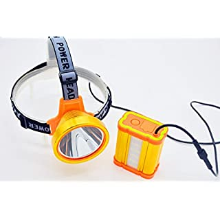 Ambertech New Rrechargeable All Golden Stainless Steel Separate Headlamp With Battery Longevity