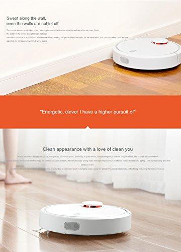Xiaomi Mijia Aspirador de Robot 1 Sweeping Smart Automático App Control 5200Am 1800Pa Versión Internacional Blanco