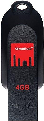 Strontium Pollex USB 2.0 4GB Pen Drive (Red & Black)