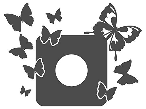 dekodino Wandtattoo Lichtschalter Steckdose Schmetterlinge Schlafzimmer Wandaufkleber W