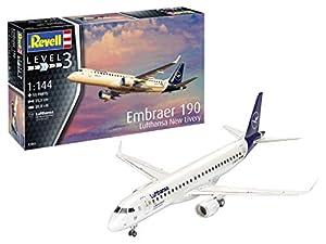 Revell-Embraer 190 Lufthansa New Livery, Escala 1:144 Kit de Modelos de plástico, Multicolor, 1/144 03883 3883