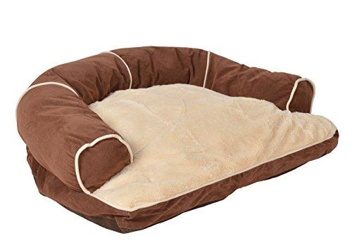 ts-ideen extra weiches Hundebett Tierbett Luxus Kissen Hundekorb Hundesofa Hunde-Kissen waschbar Schlafplatz Körbchen 75 x 55 cm Gebrauchte Hundebox Für Große Hunde