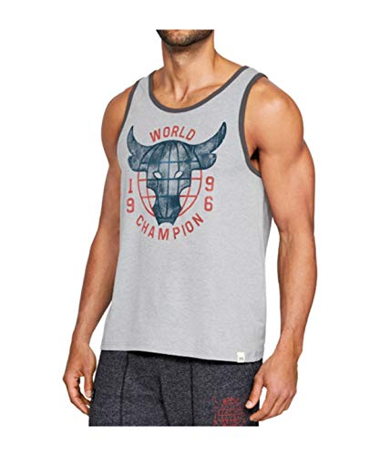 Under Armour - Canotta Uomo UA x Project Rock 96 World Champion - Steel Light Heather (035) - Small