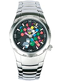 Quiksilver Y034BF/DASS - Reloj para niños de cuarzo, correa de acero inoxidable color plata