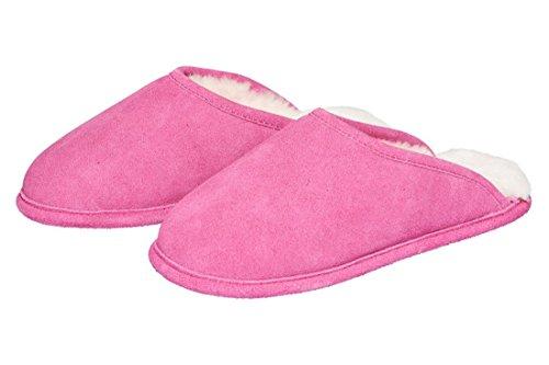 Lammfell Hausschuh Trendy Lammfell-Pantoffel Lammfellschuh Unisex Fellhof Pink
