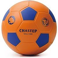 Chastep - Pelota de fútbol de espuma, antiestrés, con efecto rebote, 20cm, Orange bleu