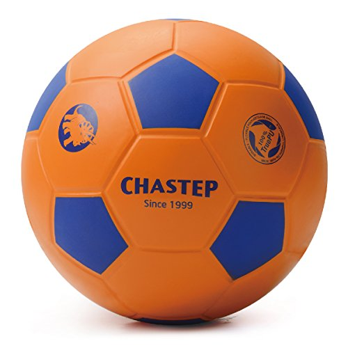 Chastep PU-Schaumstoffball Fußball Softfußball soccerball softball foam (Orange-Blau)