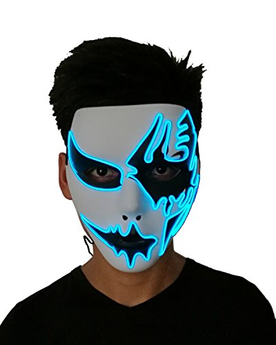 Máscara de Halloween Atractiva con luz Led 2018