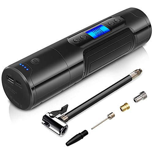 NWOUIIAY Compressore Aria Portatile Auto Mini Pompa Elettrica 150PSI 25L/MIN con Schermo Digitale LED Cavo USB per SUV Moto e Biciclette